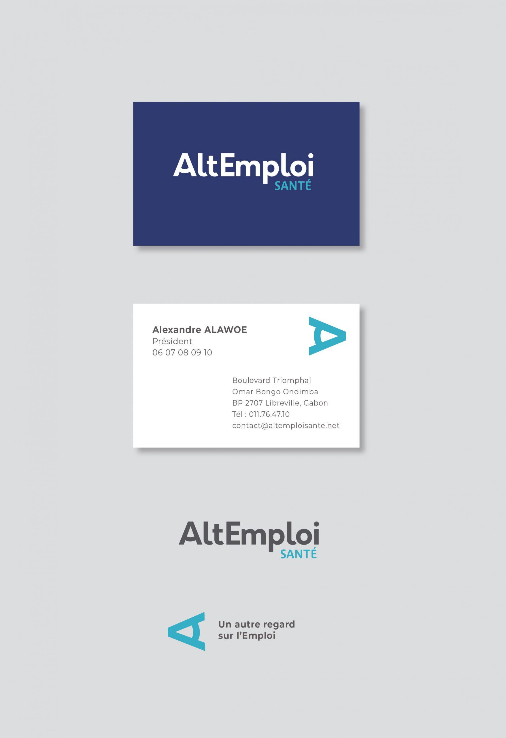 carte de visite et logo