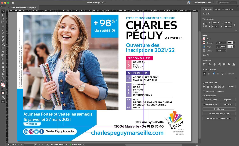 affiche 4x3 réalisée pour le lycée Charles Péguy